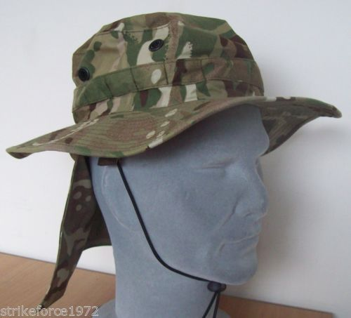 MTP Multicam Army Issue Bush Hat With Removable Neck Cover- All ... bdee76868e6