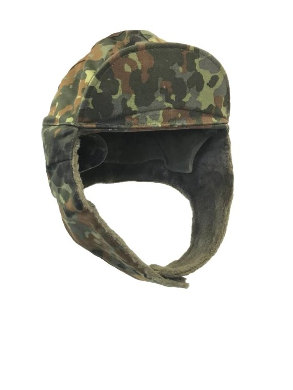 72d68696acd876 German Army Issue Flecktarn Camo Cold Weather Winter Hat ...